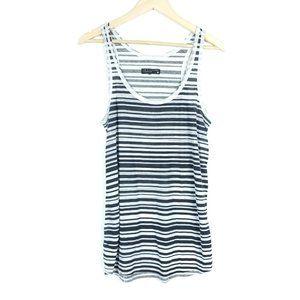 Rag & Bone Knit Black White Striped Tank Top Shirt